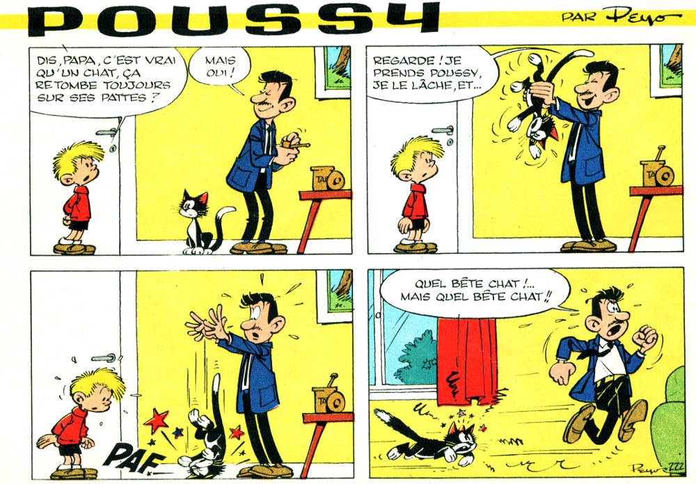 Poussy - Peyo - 1965 - Spirou n°1438